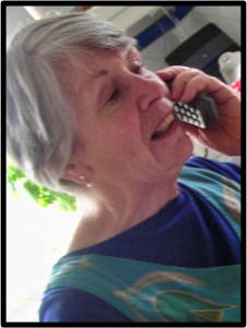 Person on the telephone