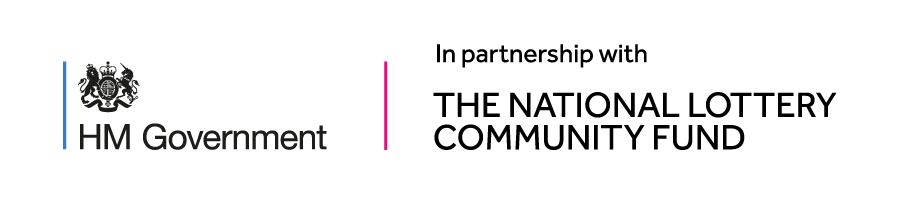 Logo HM Government in partnership with the national lottery community fund